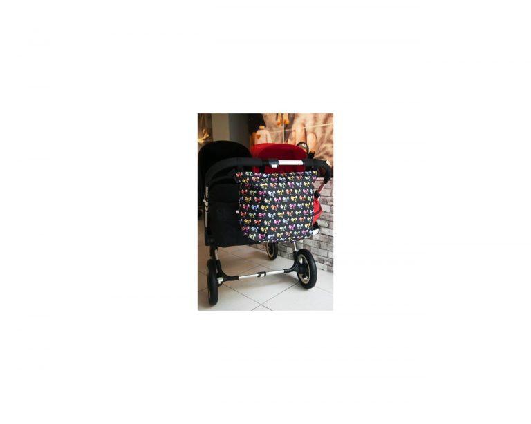 Bolsa carrito búhos negro XL/gemelar