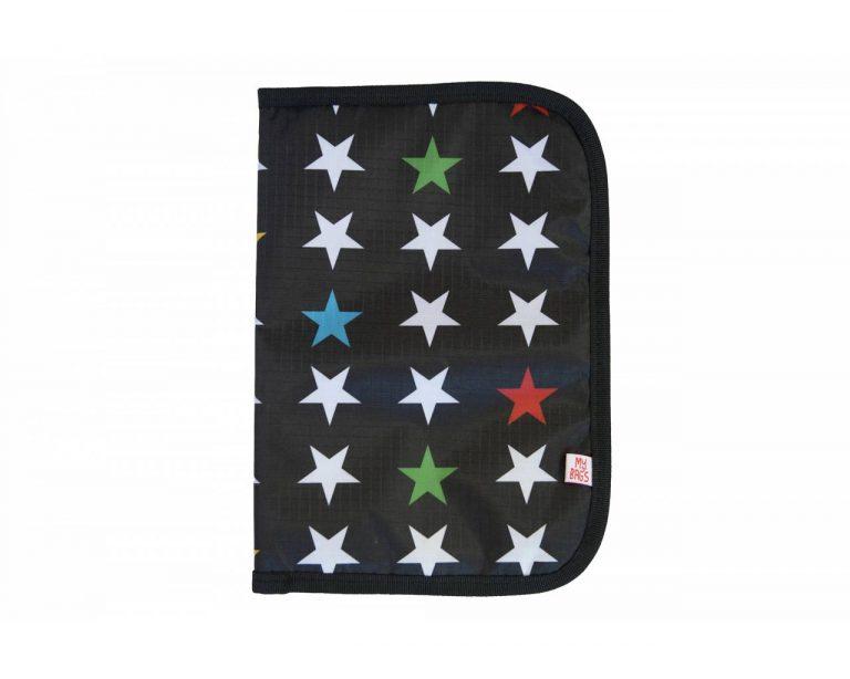Portadocumentos estrellas en negro