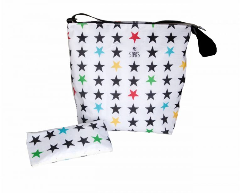 Bolsa Carrito Estrellas blancas