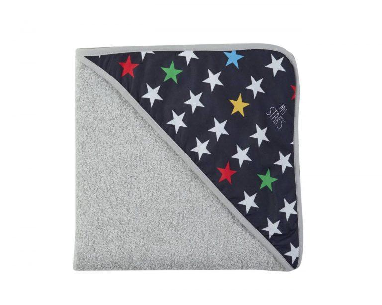 Capadelantal de Baño Estrellas negro