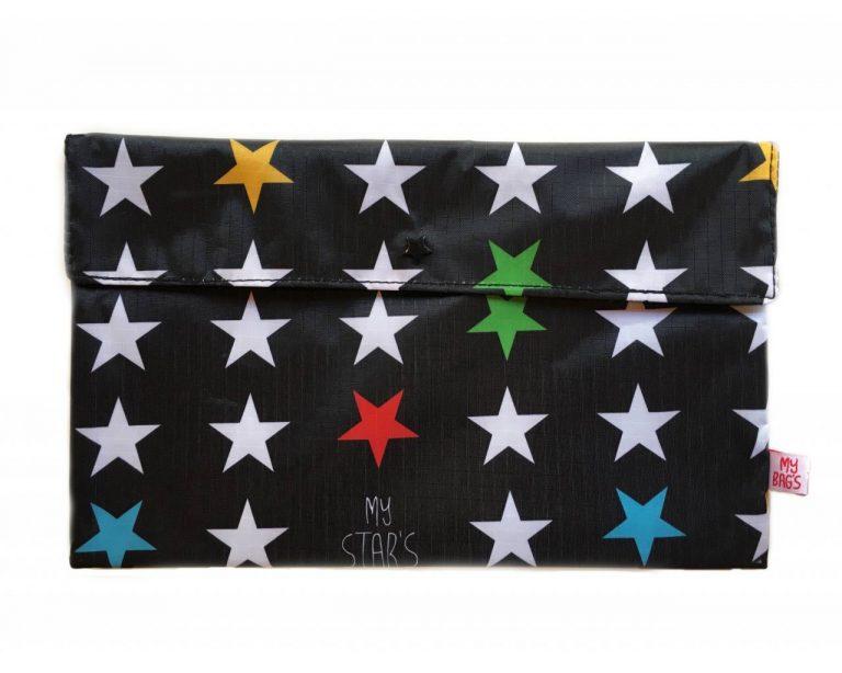 Bolsa Primera Puesta Estrellas Negro