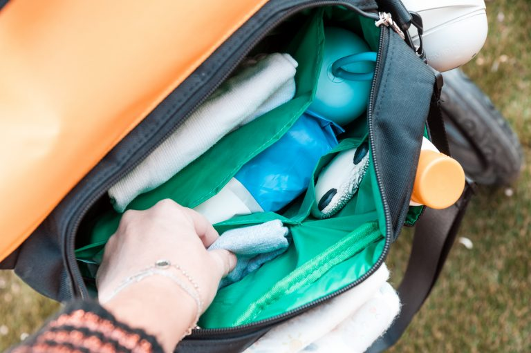 Organizador Eco Recycled solapa ocre