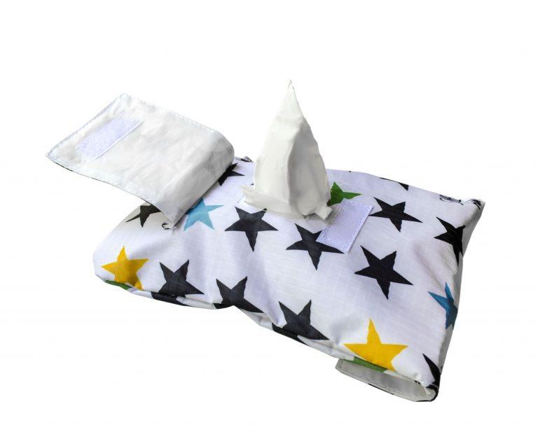 portatoallitas estrellas blancas