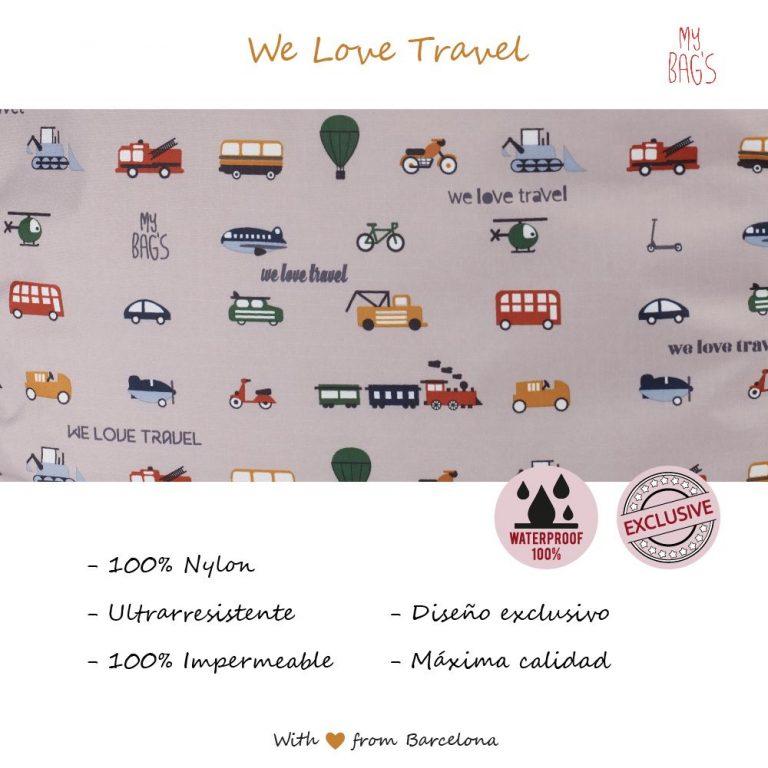 CAMBIADOR WE LOVE TRAVEL GRIS