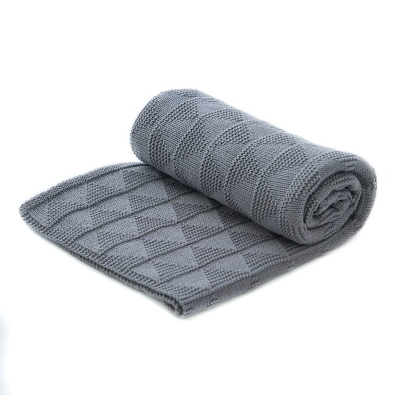 Manta gris 100% organic cotton