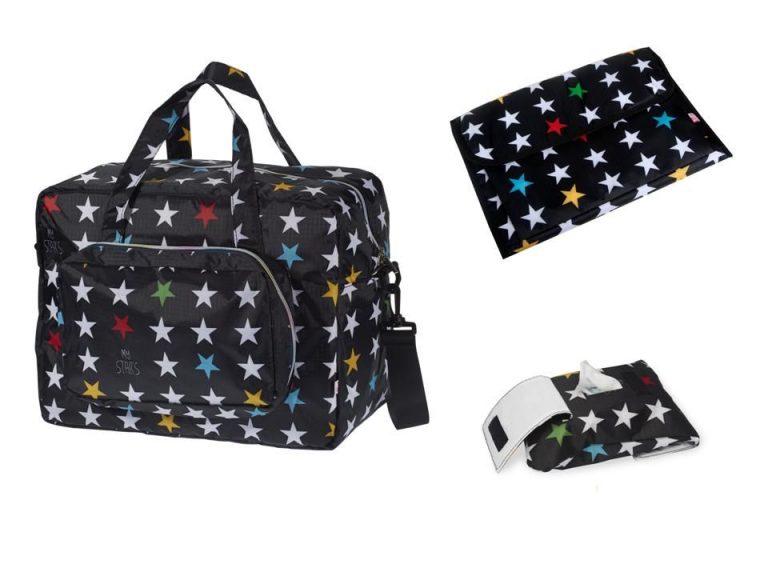 aSet bolsa maternidad y accesorios Stars Black