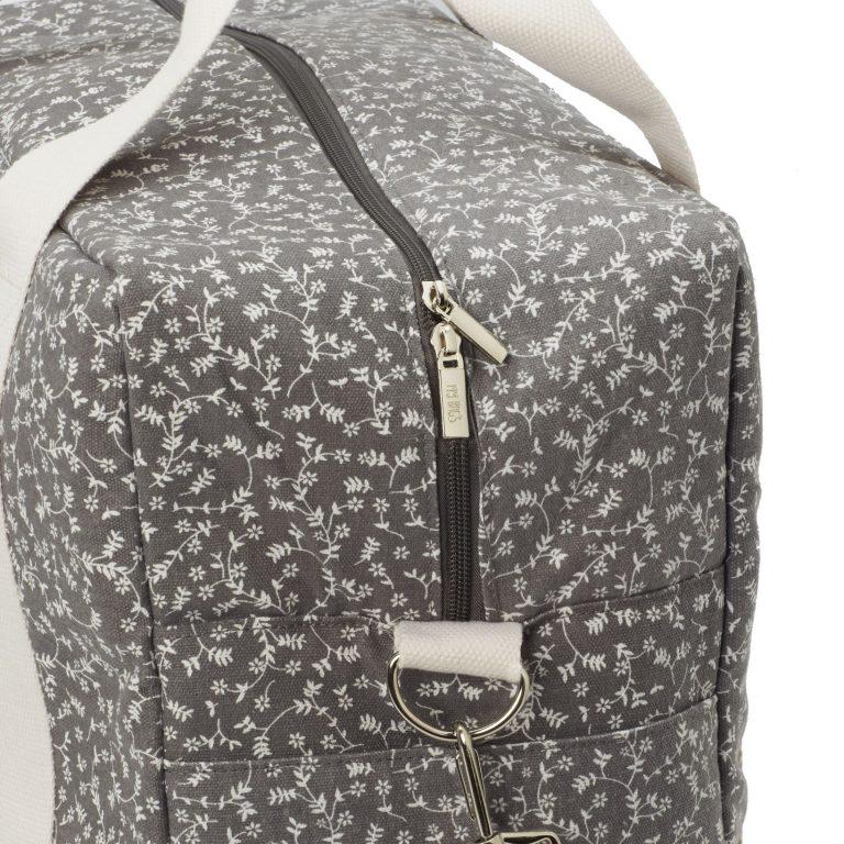 maleta liberty flower gris oscura