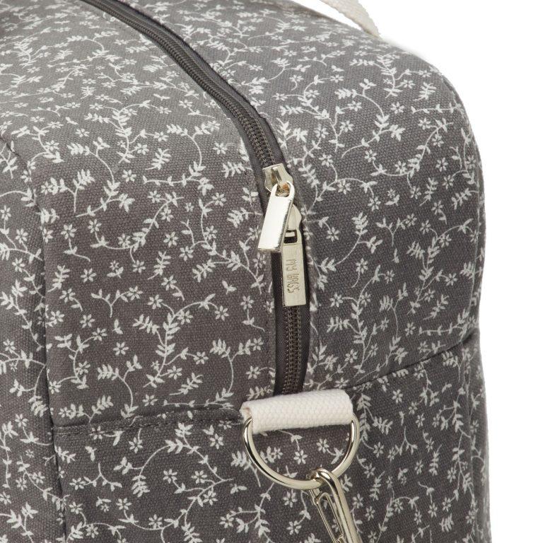 Bolsa de maternidad liberty flowers gris oscuro