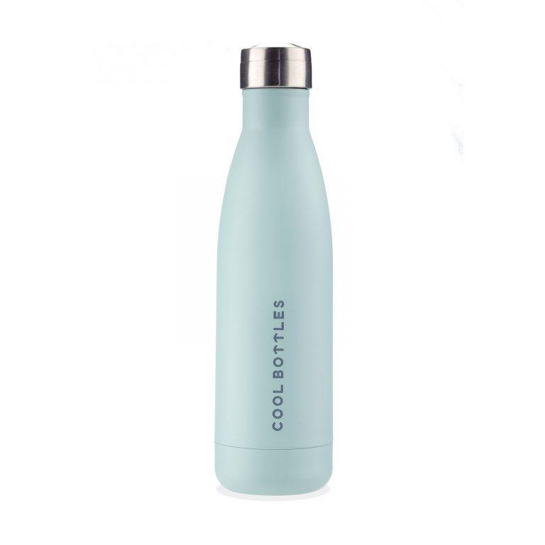 Botella térmica azul pastel
