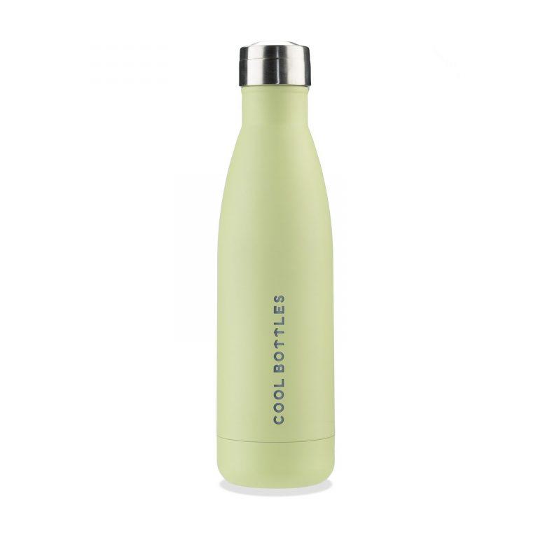 Botella térmica verde pastel