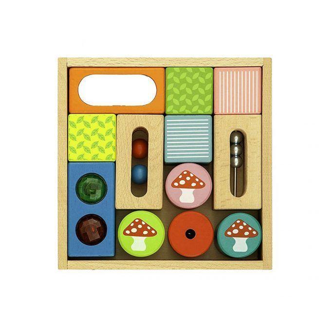 Caja de bloques de madera