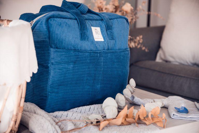 Bolsa Maternidad pana azul
